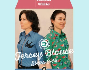 Studio dressme women – Pattern Set retro style jersey blouse/shirt – instant download includes US sizes 6-14/ EU sizes 36-44