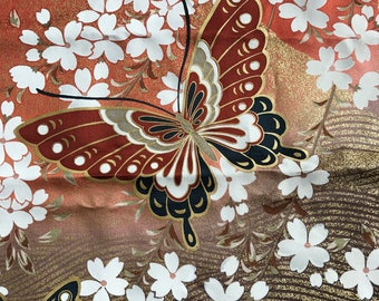 Silk Butterfly & Cherry Blossoms Panel
