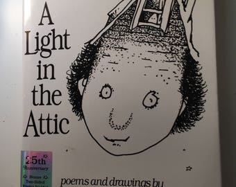 A Light in the Attic Shel Silverstein Classic 25th Anniversary with Poster