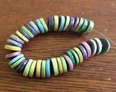 RESERVED, kiln fired raku heishi beads