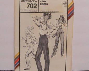 Stretch and Sew Misses' Slim Pants Pattern 702