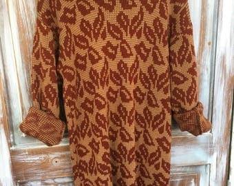 MEMORIAL DAY SALE- Vintage Knit Dress-Sweater Dress-Retro-Vintage Dress