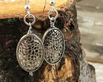 Hammered Metal Earrings--Boho Earrings-