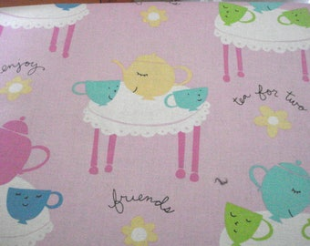 Tea For Two Cotton Quilting Fashion Fabric
