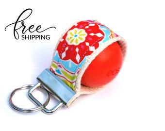 LippyLoop™ EOS Holder Keychain, Spring Flowers | Free Shipping