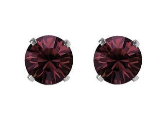 Swarovski Crystal Stud Earrings Sterling Silver Burgundy or CHOICE OF COLOURS