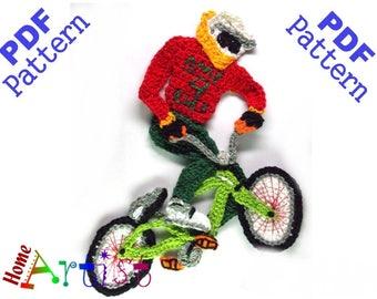 BMX Crochet Applique Pattern