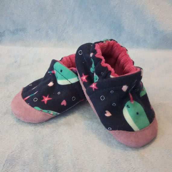 Narwhals: Soft Sole Baby Shoes 6-12M