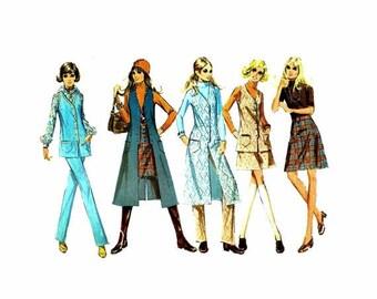 SALE 1970s McCalls 2488 Misses Vest Skirt Pants Vintage Sewing Pattern Size 10 Bust 32 1/2 UNCUT