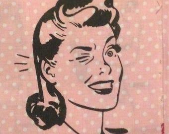 Winking Lady PINK POLKADOT PATCH
