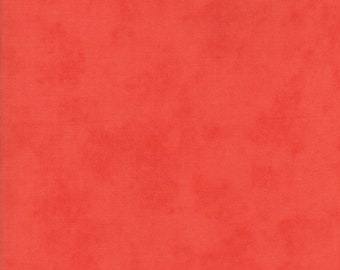Ella and Ollie - Printed Solid in Strawberry Red: sku 20308-11 cotton quilting fabric by Fig Tree and Co. for Moda Fabrics