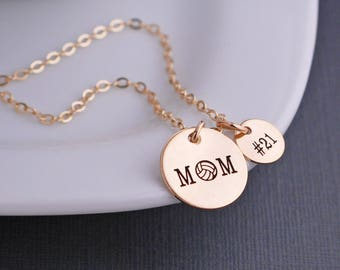 Personalized Volleyball Mom Necklace, Volleyball Mom Jewelry, Sports Mom Gift, Necklace