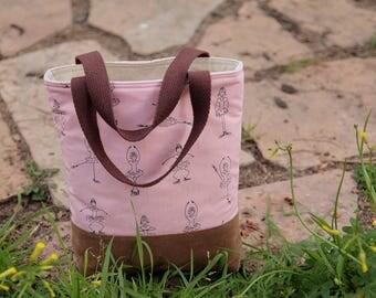 Ballerina Bag, Toddler tote bag, Scripture bag, bible, Beach, pool, library bag, diaper bag, Dance bag, preschool, Book bag, kid bag, Pink