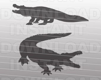 Alligator SVG File - Gator SVG File - Vector Art - Commercial & Personal Use - svg file for Cricut,svg file for Silhouette,vinyl cutting