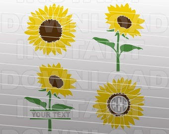 Sunflower SVG File, Gardening SVG File -Commercial & Personal Use- svg for Cricut,Silhouette Cameo,vector svg,svg cutting file,vinyl cut