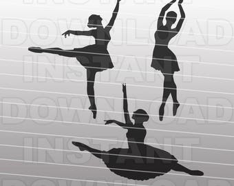 Dancers SVG File Cutting Template-Clip Art for Commercial and Personal Use-Vector Art file for Cricut,SCAL,Cameo,Sizzix,Decal,Vinyl