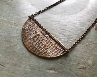Textured Crescent - Brass