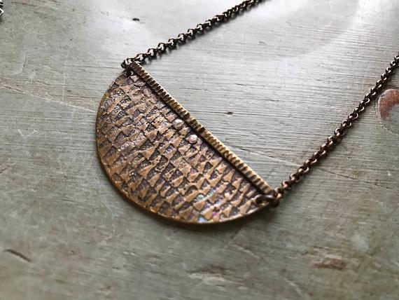 Textured Crescent - Brass
