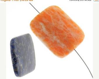 20% Off Sale 30mm x 40mm Mixed Semi-Precious Stones - 4 Stones - 040s8