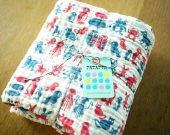 zoo baby blanket