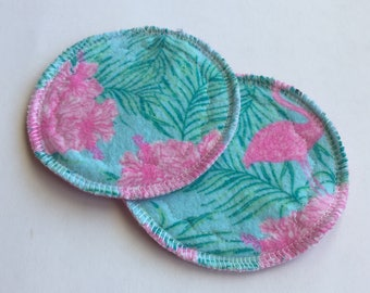 1 Pair Flannel and Bamboo Velour Nursing Pads