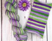 Attitude Adjustment: Hand-dyed gradient self-striping sock yarn, 80/20 SW merino/nylon
