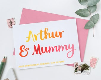 Mummy And Me Personalised Mother's Day Card - Mummy Keepsake Card - First Mother's Day Card - Child And Mummy Card - Card For Mums