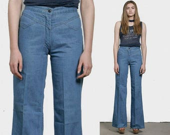 SALE - 70s High Waisted Wide Leg Jeans