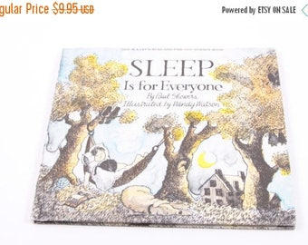 Sleep is for Everyone - Paul Showers - Vintage Children's Book - Bedtime~ The Pink Room ~ 170214