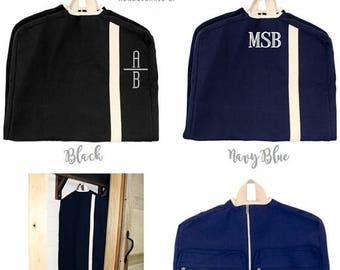 ON SALE Garment Bags - Monogrammed Garment Bag - Canvas Garment Bag - Groomsmen Bag - Groomsmen Gift - Bridal Gift