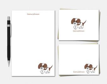 Beagle Dog Stationery Set - Personalized Beagle Dog Stationery - Personalized Stationery - Kids Stationery - Custom Beagle Dog Stationery