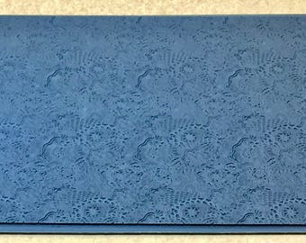 FLOWER POWER Embossed Rubber Texture Tile Mat Stamp for Clay inks Ceramics Paint Soap  MGT517