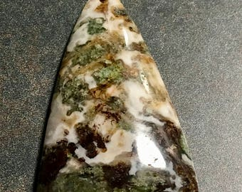 MOSS AGATE natural GEMSTONE  Brown and Grey