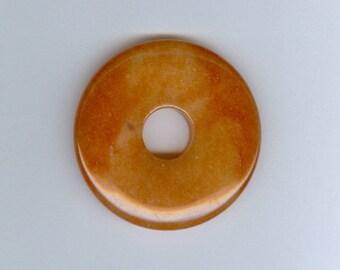 Aventurine Donut Pendant, 45mm Red Aventurine Gemstone PI Donut Focal Pendant 5111