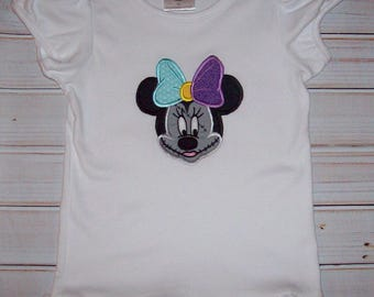 Sample SALE Minnie as Sally From Nightmare Before Christmas Short Sleeve T-shirt size 5T - ready to ship--