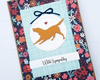 Dog Sympathy Card, Dog Condolence Card, Pet Sympathy Card, Loss of Pet Card