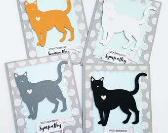 Cat Sympathy Card, Your choice of Cat. Loss of Pet Card, Pet Sympathy Card, Pet Condolence Card