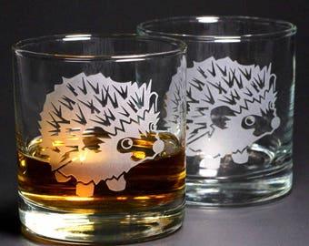 Hedgehog Lowball Glasses - Set of 2