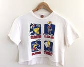 Vintage 90s Looney Tunes Bugs Bunny Crop Top