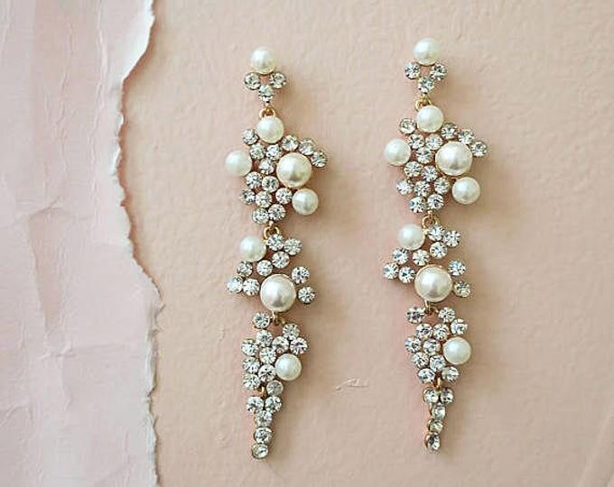 Long Chandelier Earrings Gold
