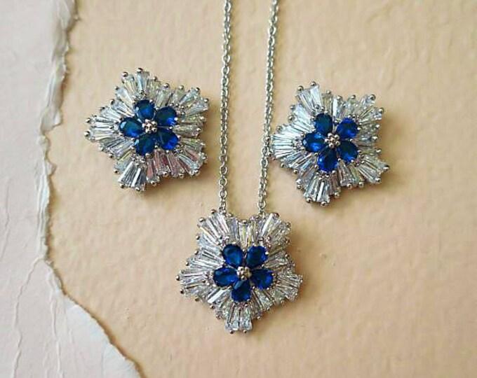 Blue Bridal Earrings