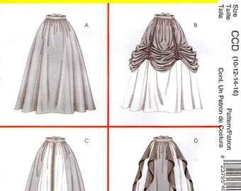McCall's 4090  RENAISSANCE SKIRTS Size 10 - 12 - 14 - 16 Costumes Pattern