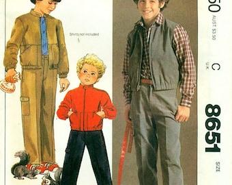 McCall's 8651 Boy's Jacket, Vest & Pants SIZE CHOICE  ©1983 Billy The Kid