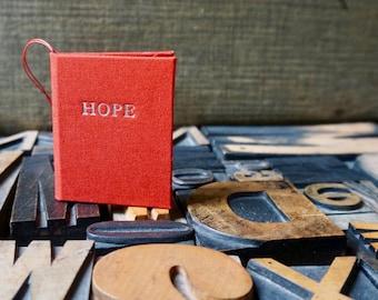 Christmas Ornament - Miniature Red Hope Book
