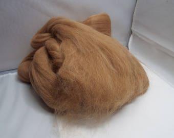 Fawn Alpaca Top, alpaca roving, alpaca, spinning, fiber, roving, threadsthrutime, Ashland Bay fibers