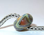 Luccicare Lampwork Bead - Dragon XIX -  Lined with Sterling Silver