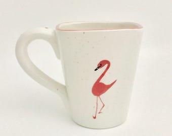 Flamingo Mugs, Flamingo.Coffee, 16 oz, Handmade By Sara Hunter