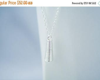 50% OFF Small Coiled Silver Layering Necklace