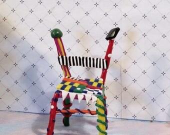 Geometric Wacky miniature chair