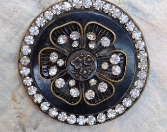 AS IS Antique Finding Prong Set Rhinestones Trim